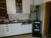 Die Küche mit Ofen