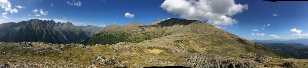 Panoramabild vom Gipfel