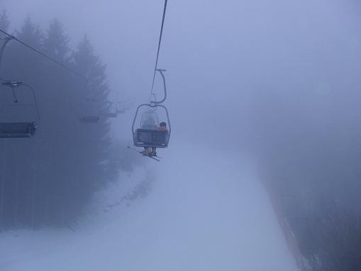 durch den nebeligen Wald hoch zum SilverJet2